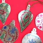Shiny Kids' Printable Christmas Ornament Craft