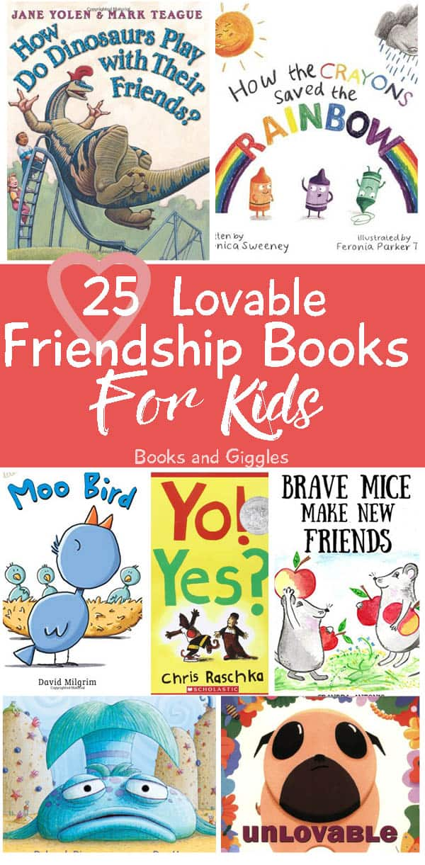 collage of children's friendship book covers