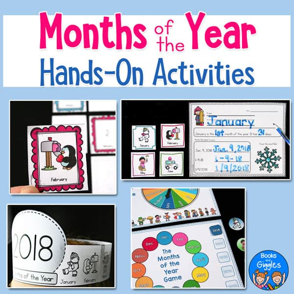 months of the year worksheets and games