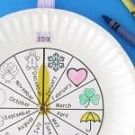 Paper Plate Calendar for Practicing the Months of the Year