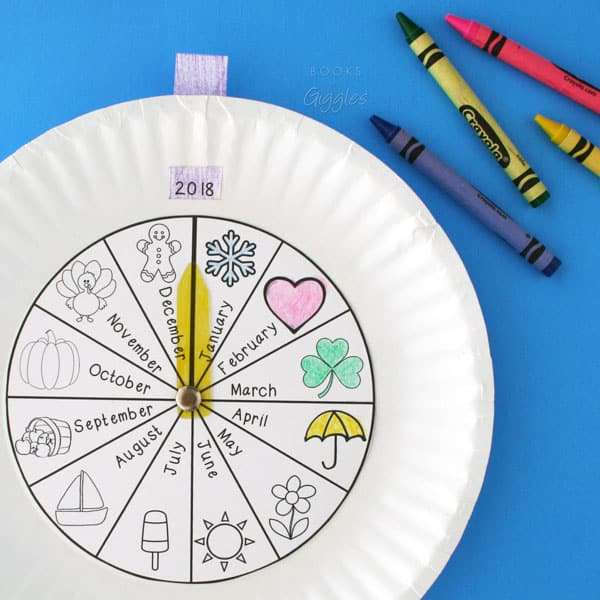 Fun months of the year activity using a paper plate