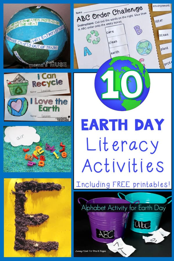 These Earth Day literacy activities include a wide range of engaging ideas, from letter recognition to ABC order. Lots of free, hands-on fun!