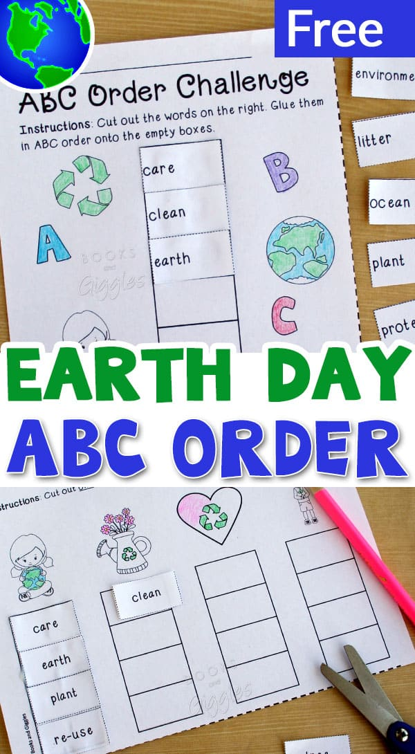 This free Earth Day ABC order printable gives students practice alphabetizing words related to protecting our environment.