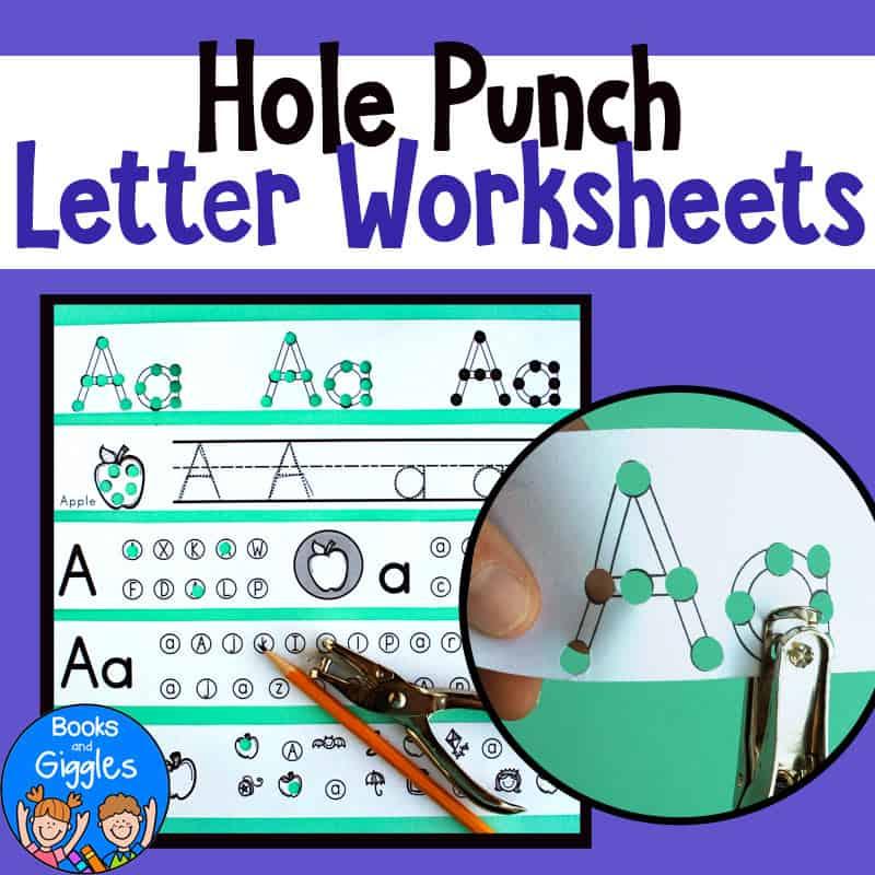 hole punching abc preschool activities