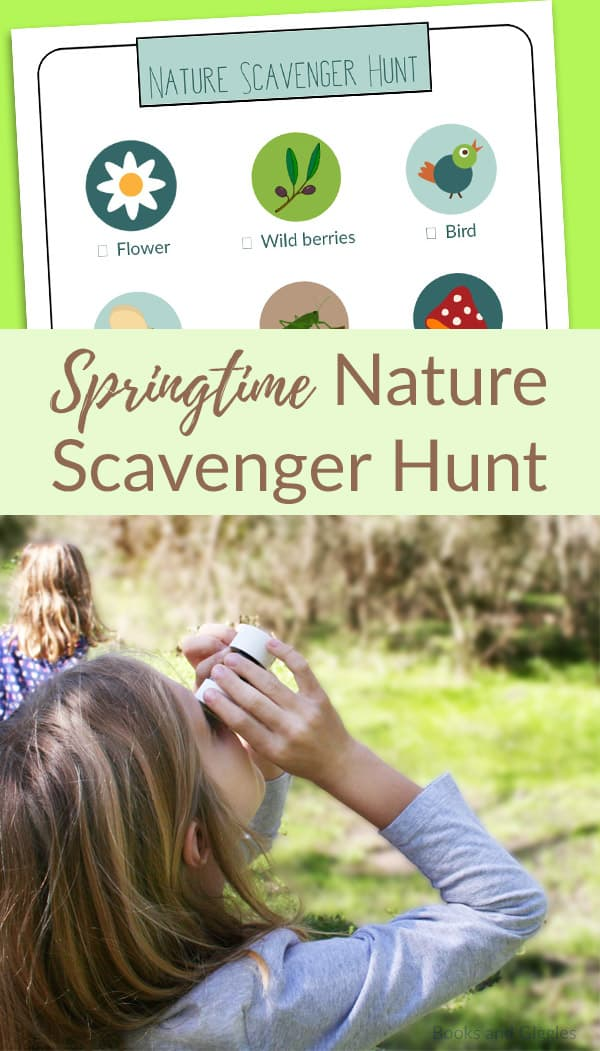 Free printable nature scavenger hunt for kids, plus a simple craft to encourage listening to nature sounds along the way.