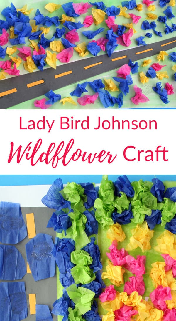 "Flower craft | This kids' wildflower craft is inspired by Lady Bird Johnson and the children's book ""What's the Big Deal About First Ladies?"""