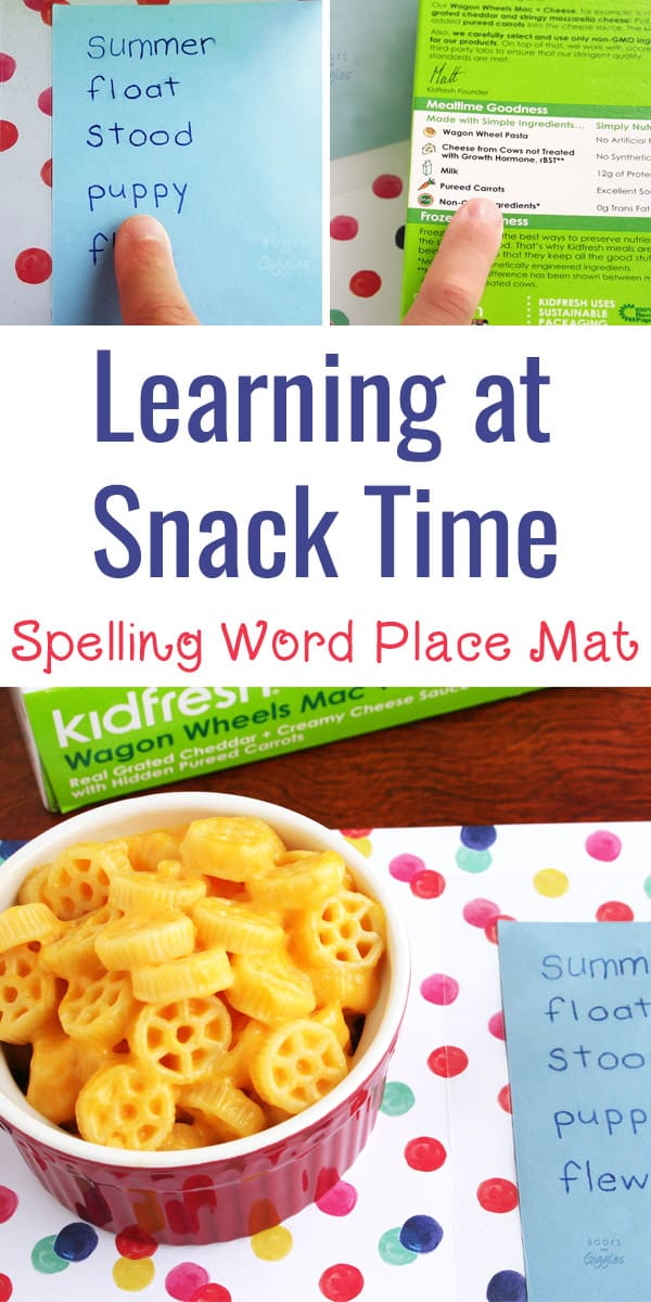 How to make place mats for spelling or sight word practice