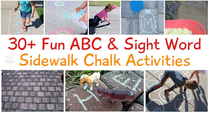 sidewalk chalk educational summer activities
