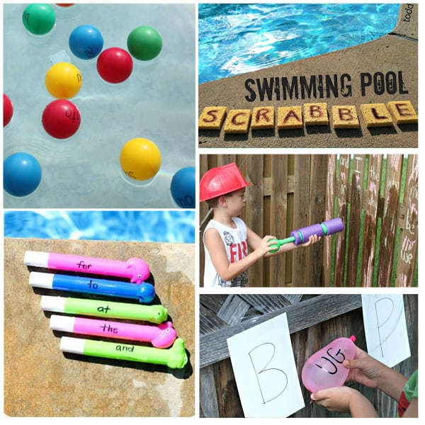 Sight Word water learning activities