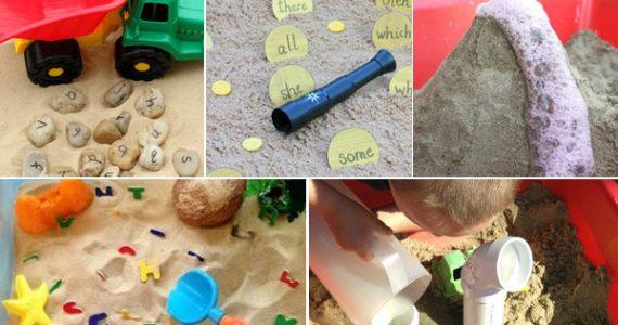Sandbox learning activities for preschoolers
