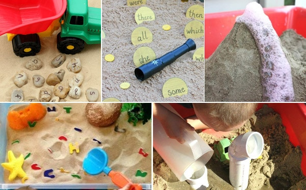 Sandbox educational summer activities for preschoolers
