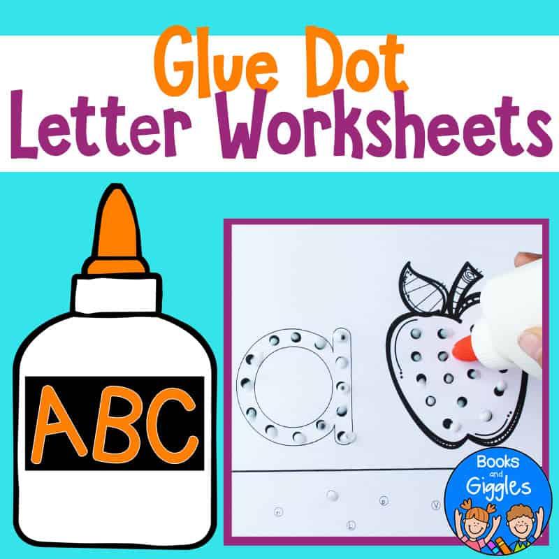 glue dot letter worksheets
