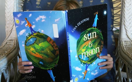reading a solar eclipse book for kids