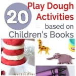 Play dough activities based on children's books