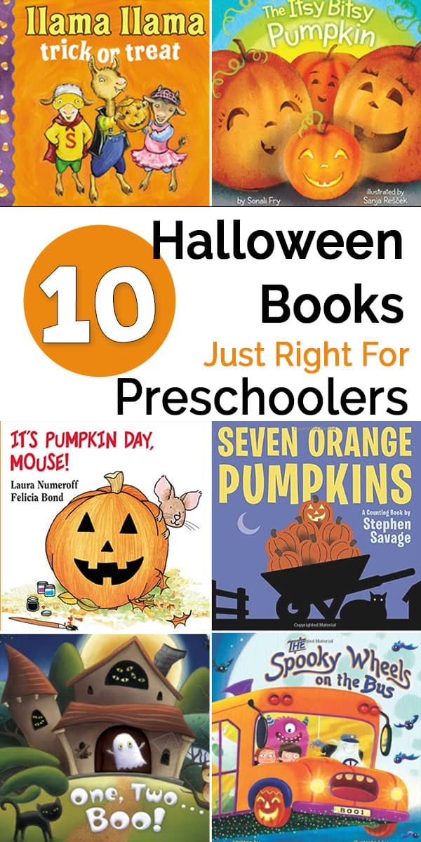 These Halloween books for preschoolers include rhyming stories, counting books, and books that teach about Halloween traditions.