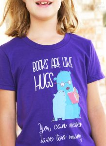 books-are-like-hugs-model-shirt