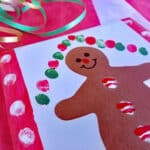 Gingerbread Theme Kid Made Gift: Fingerprint Trivet