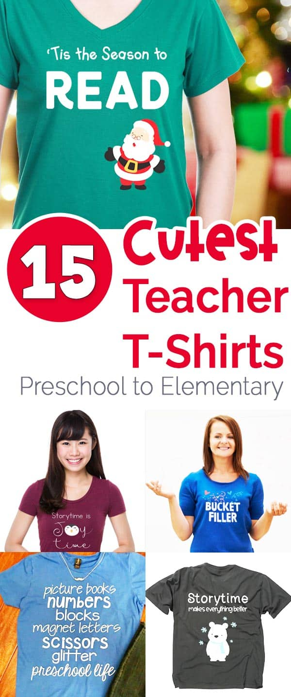teacher shirts for preschool, kindergarten, and elementary teachers