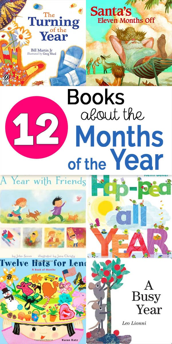 Books about the months of the year - an annotated book list to enrich teaching the months of the year to preschoolers and kindergarteners