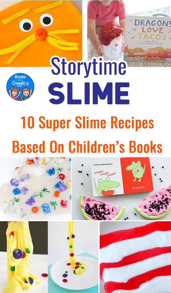 Slime Recipes based on some of your favorite children's books! These sensory activities quickly turn into literacy activities as well!