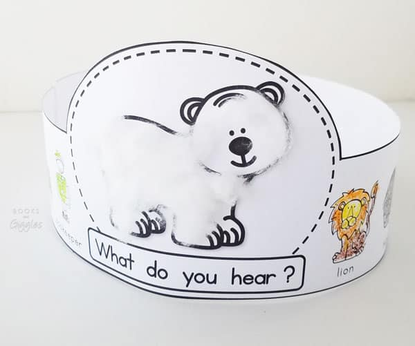 Polar Bear, Polar Bear story retelling activity printable crown