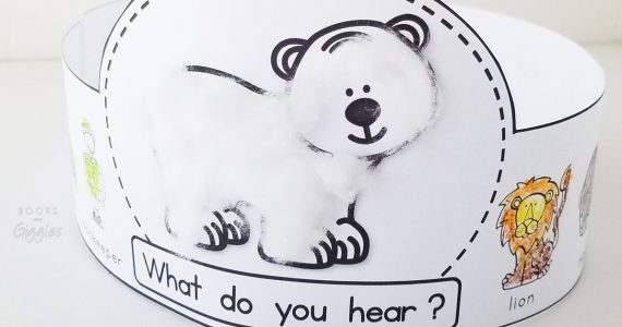 Polar Bear, Polar Bear story retelling printable crown