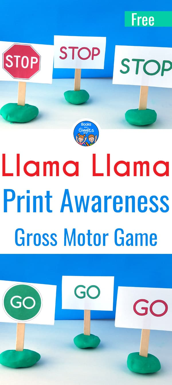 Engaging Llama Llama activity for preschoolers and early kindergartners. #grossmotor #earlyliteracy #preschool