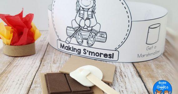smores pretend play craft and printable
