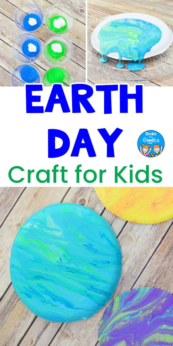 Earth Day craft for kids with paint