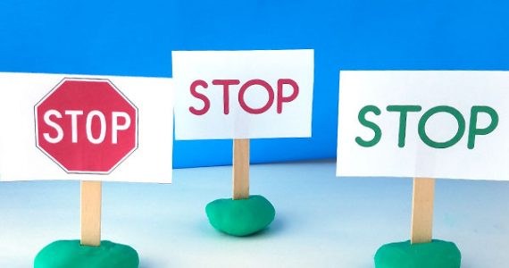 stop signs print awareness activity