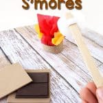 Smores sequencing activity that's cheap and simple to prepare - perfect for preschool or kindergarten camping theme literacy centers.