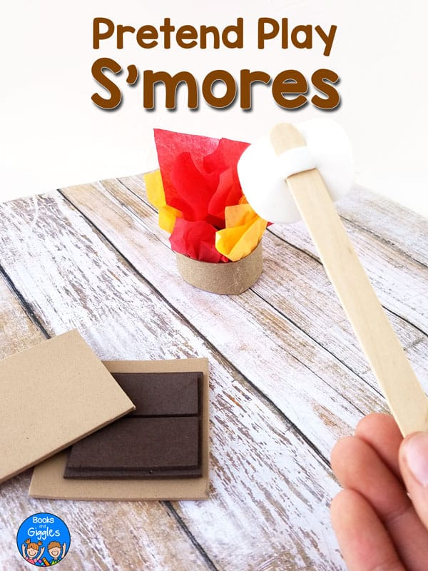 Smores sequencing activity that's cheap and simple to prepare - perfect for preschool or kindergarten camping theme literacy centers. #