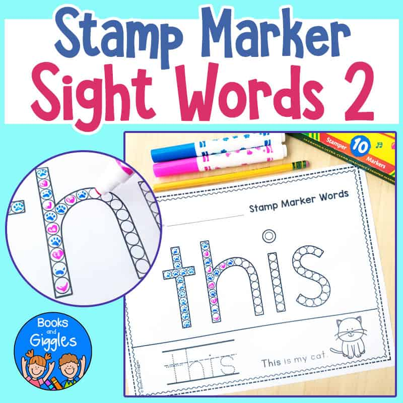 stamp marker sight word worksheets