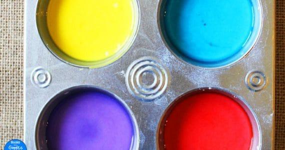 chalk paint closeup