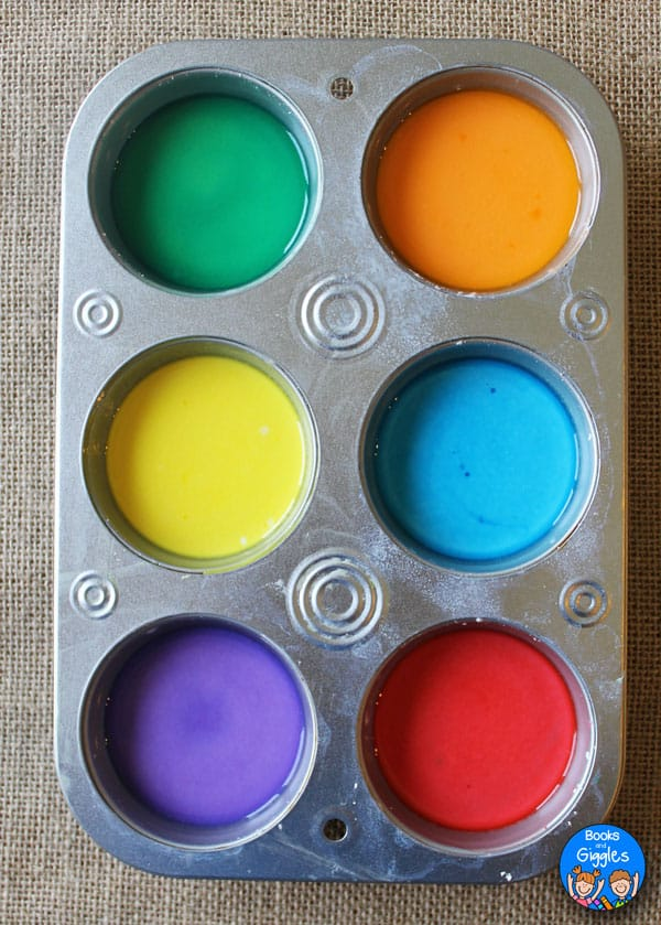 How to make sidewalk chalk paint in 6 colors at once