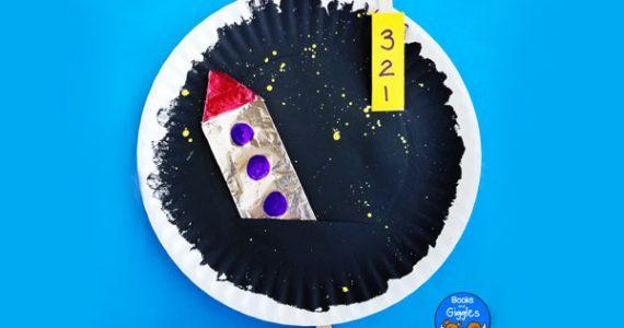 interactive paper plate rocket craft