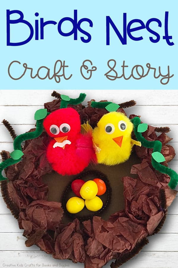 birds nest craft preschool book activity for The Best Nest by P.D. Eastman