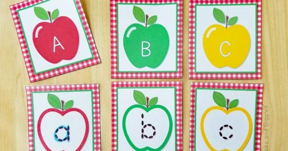 apple theme alphabet printable activity