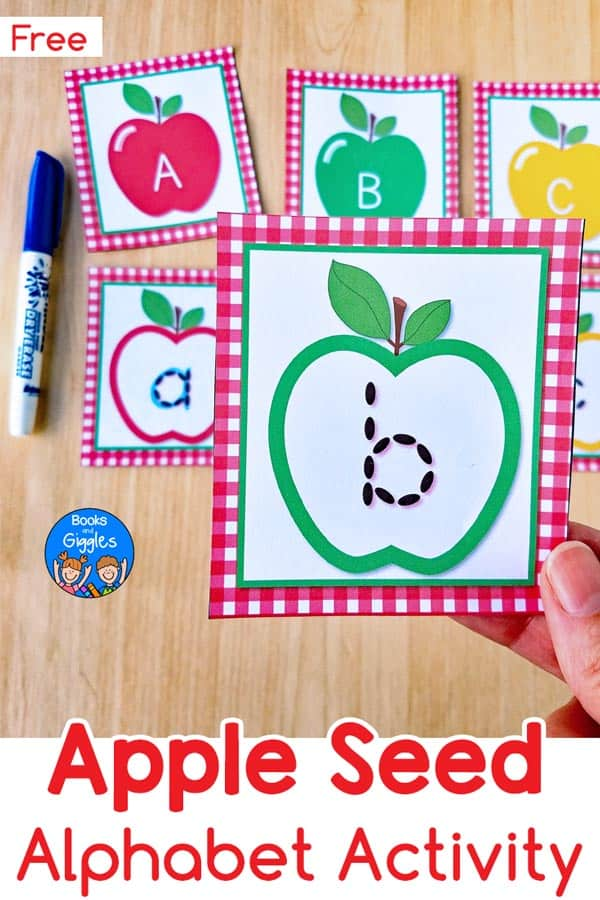 Apple activities preschool kids will love using these free printable alphabet cards