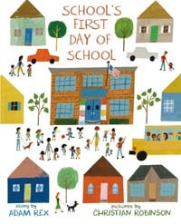 school's first day book cover