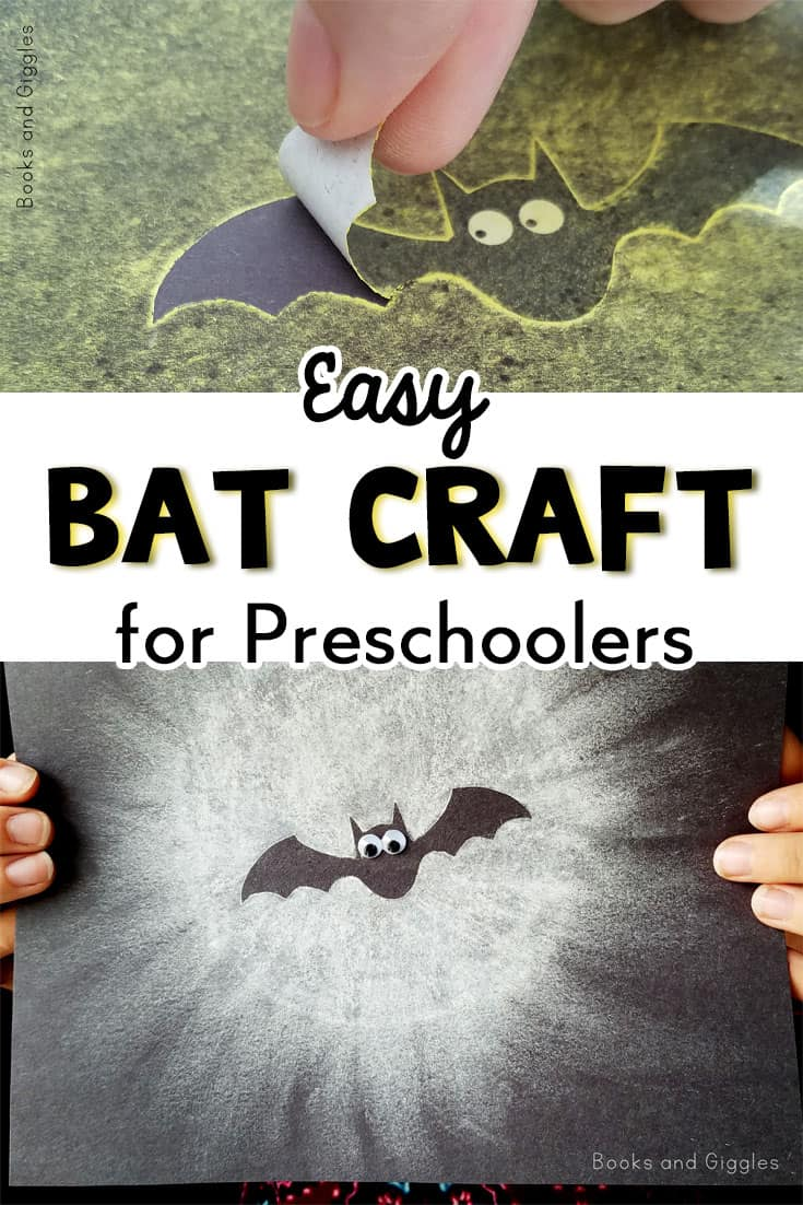 This is an easy bat craft preschool kids will love! They can strengthen fine motor skills and