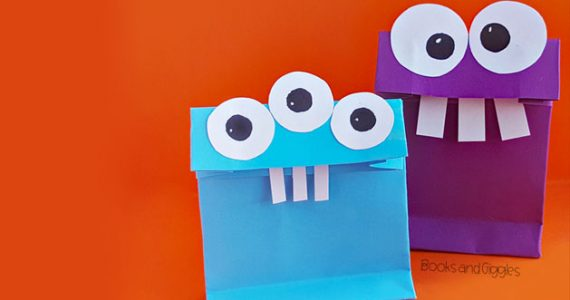 diy monster treat bags for Halloween