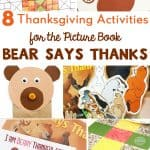 Bear Says Thanks Activities for Thanksgiving