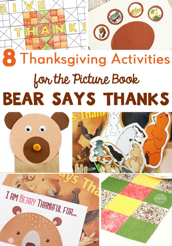 8 Bear Says Thanks activities for kids to do at Thanksgiving