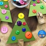 Educational Christmas Tree Craft for Preschoolers