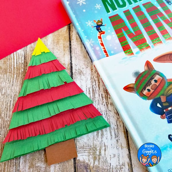 paper christmas tree craft and book review