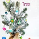 Mini eraser Christmas tree makes an adorable classroom decoration or teacher gift