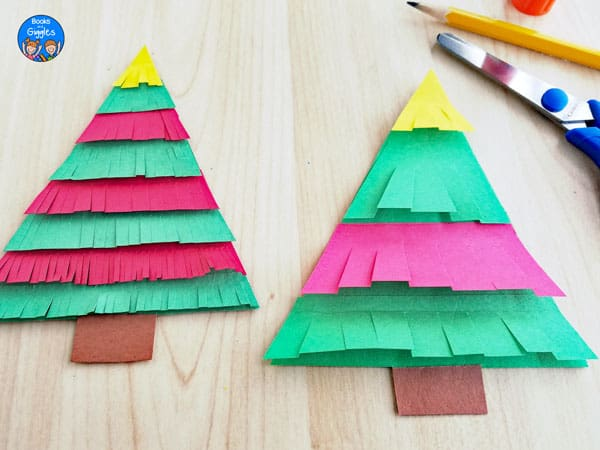 paper christmas tree crafts