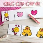 This preschool Valentine activity makes working on letter recognition fun!