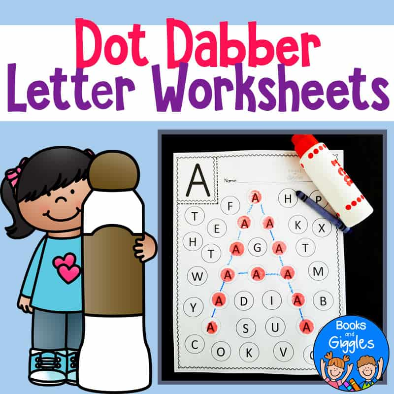abc worksheets for dot markers
